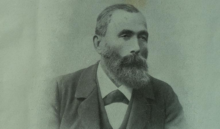 Abb.1: Portrait von Franz Joseph Bucher-Durrer, dem Erbauer des Felsenweges