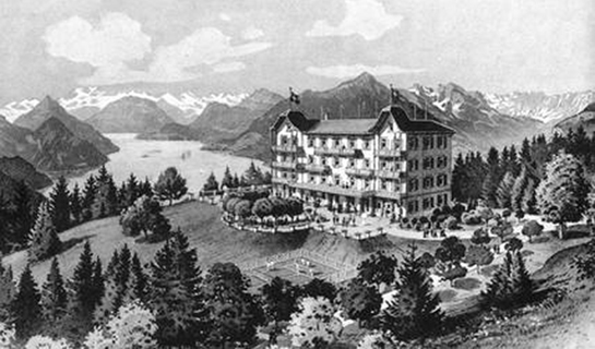 Abb. 3: Gemälde vom Hotel Honegg