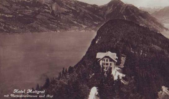 Abb. 4: Ansichtskarte vom Hotel Mattgrat