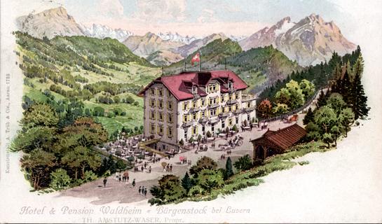 Abb. 5: Ansichtskarte vom Hotel & Pension Waldheim