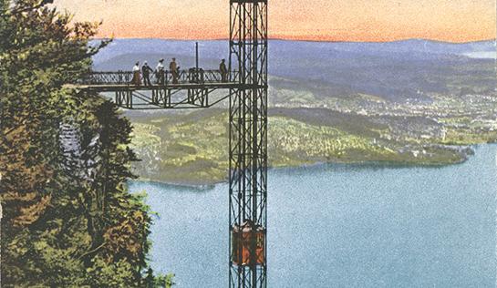 Abb. 7: Ausschnitt aus einer Ansichtskarte mit gut erkennbarer Holzkabine