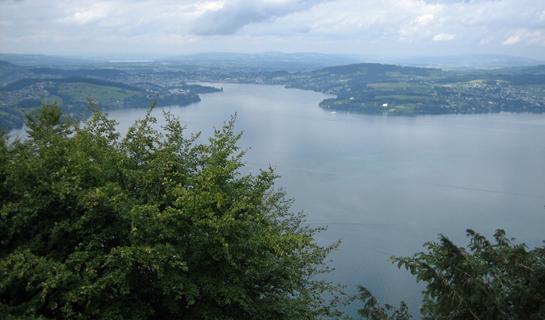 Abb. 8: Blick vom Bürgenberg in Richtung Mittelland (Sursee, Sempach)