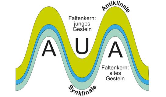 Abb. 8: Geometrie von Gesteinsfalten