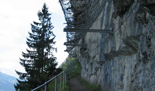 Abb. 6: Steinschlagnetze